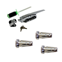 Coolrooms/Freezer Flush Latch DH037 and Flush 714 Hinges Kit