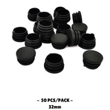 50pcs Plastic Blanking End Cap Round Tube Insert 32mm