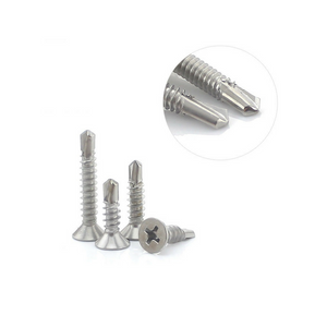 M4.8 stainless self drilling screws flat head cuntersunk 300PCS