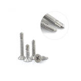 Self Drilling Stainless Steel Screws Flat Head M4.2x25mm 50PCS/300PCS