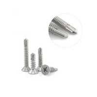 M4 stainless self tapping screws flat head 300PCS