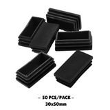 30x50mm Plastic Blanking End Cap Rectangular Tube  Pipe Section Inserts Cover Protector 50PCS