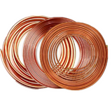 "1/2""Inch x 5m Copper Pipe Roll for HVAC Refrigeration, Plumbing - R410A"