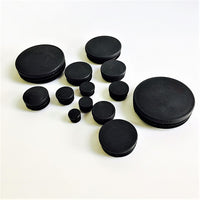 50PCS round plastic end caps for steel tubing