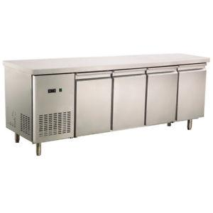 Commercial 4 Steel Door 450L Worktop Bench Refrigerator 304 Stainless Steel