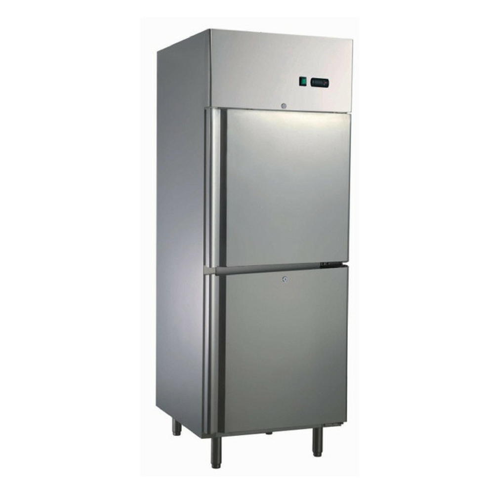 Commercial Upright Freezer Two Door 550L 304 Stainless Steel