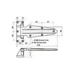 Coolroom/Freezer Heavy Duty Door Hinge 1470