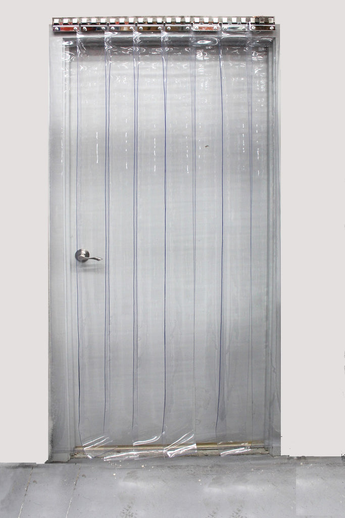 Overlap PVC Strip Curtains 1000 x 2000mm - 150mm wide strips