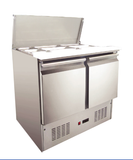 Saladette Fridge; Stainless Steel 304; two door refrigerator