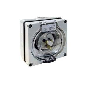 Weatherproof 250V 15AMP Caravan/Commercial Power Inlet