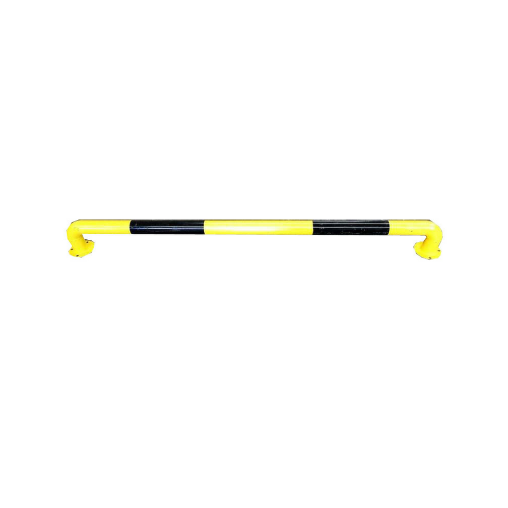 2m Industrial Safety Guard Rail Barrier Bollard Black and Yellow