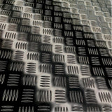 Aluminium Black Checker Plate Sheet - Metallic 1.4MM