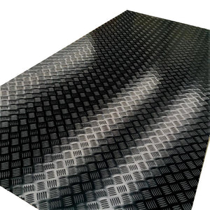 Aluminium Black Checker Plate 2400 x 1200 x 1.4MM