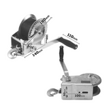 1200LBS Hand Winch 2-ways 15 Meter Synthetic Strap Manual Car Boat Trailer 4WD