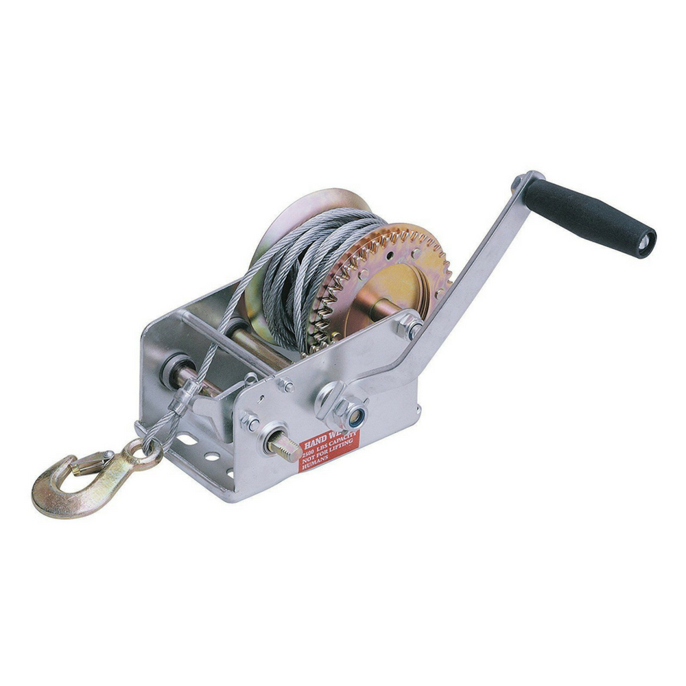 HAND WINCH, BOAT WINCH - 2000LB LOAD -15M Cable