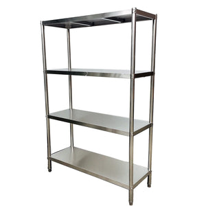 1500x600x1800mmH Industrial Stainless Steel Kitchen Shelves - Heavy Duty 4 Tiers