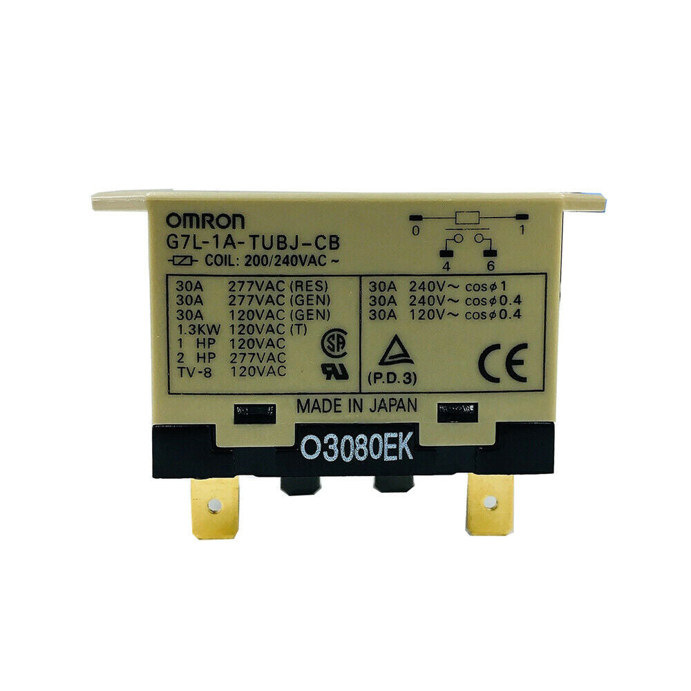 OMRON Enclosed Power Relay 4 Pin G7L-1A-TUBJ-CB AC 30A