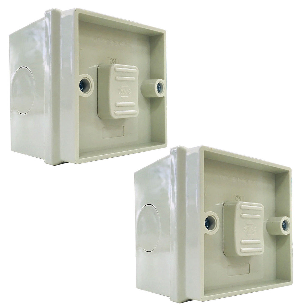 2PCS Weatherproof Single One Gang Toggle Power Switch