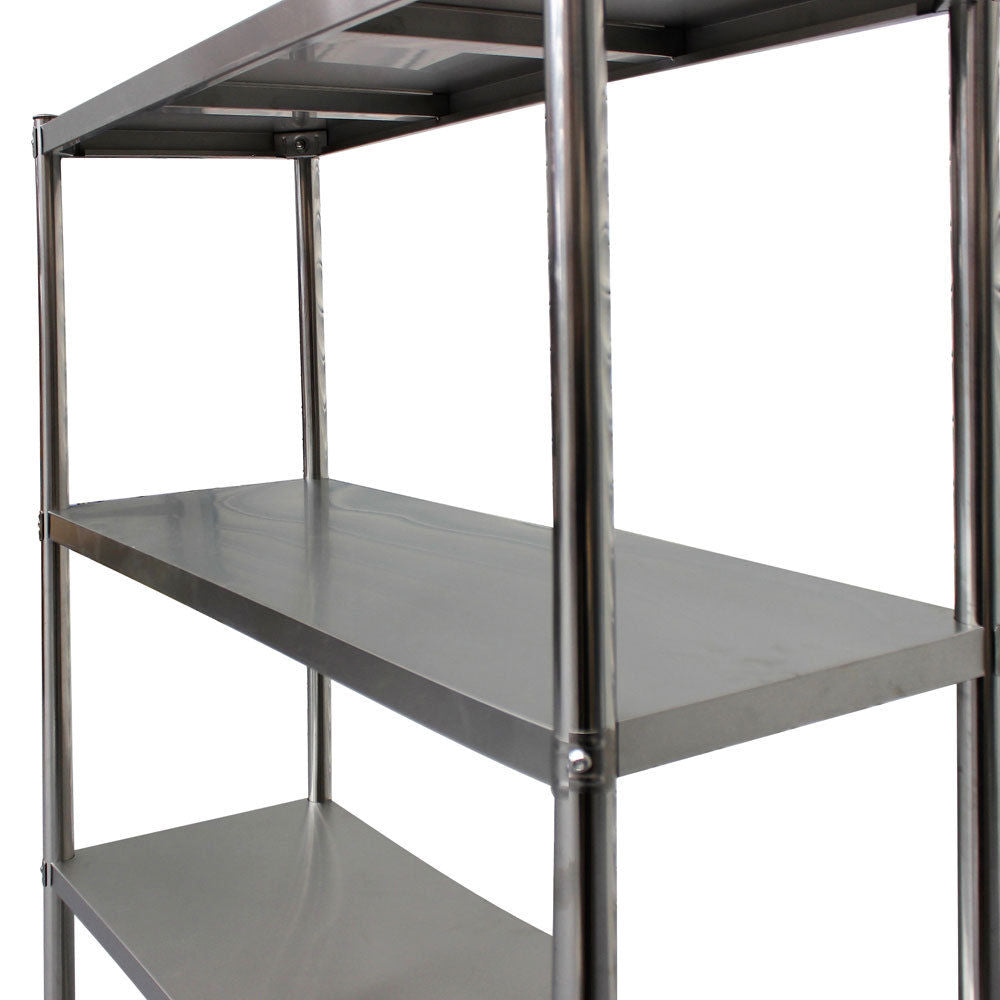 900 x 600 x 1800mm 400kg Load Heavy Duty Stainless Steel Shelves