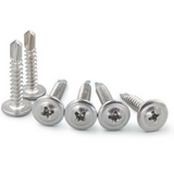 M4.2 Stainless Steel Self Drilling Tek Screws - 50PCS/300PCS Button Head