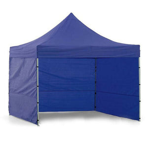 3x3m Blue Pop Up Marquee Gazebo with Walls