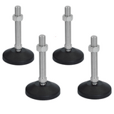 4pcs M12 x 80mm Adjustable Leveling Feet - Ball Joint