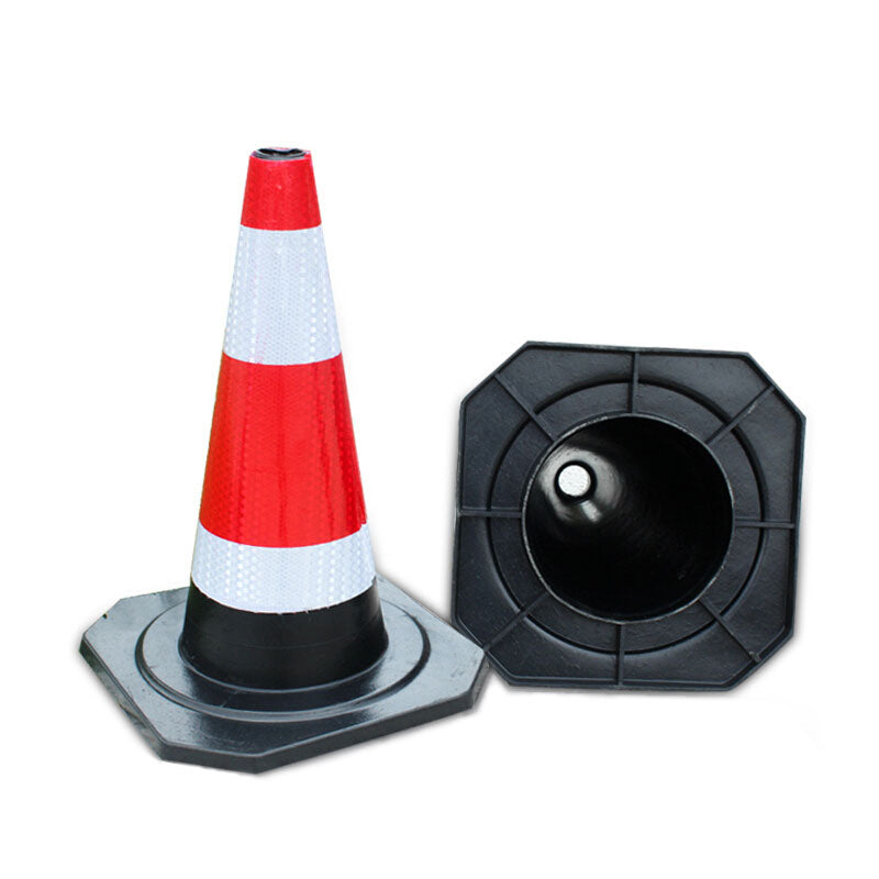 450mm Small Traffic Cones With Reflective Stripes Rubber