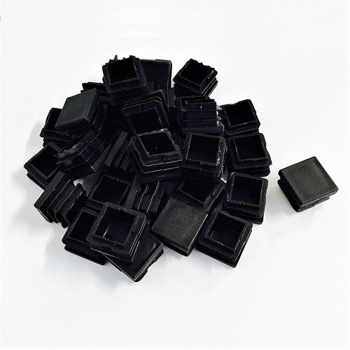 50PCS square plastic end caps for steel tubing tube inserts
