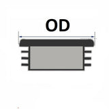25x50MM - Rectangular Plastic End Caps - 10PCS/50PCS