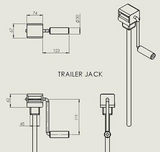 Trailer Jack Stand with Flange 2000lbs load