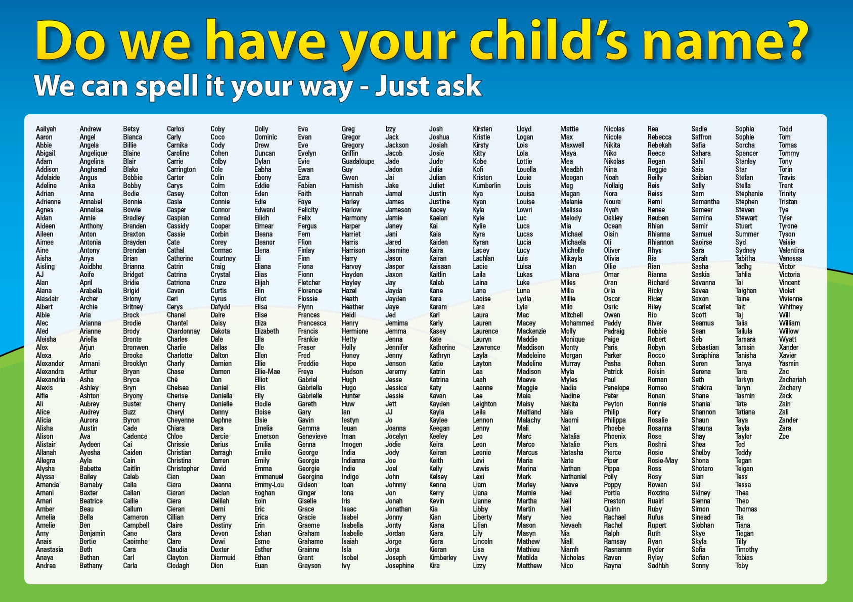 name list Names for boys, baby boy names, baby boys names congratulations on your new baby boy what to call him 2018 update here is a list of hundreds of names for boys, from aaron to zylen.