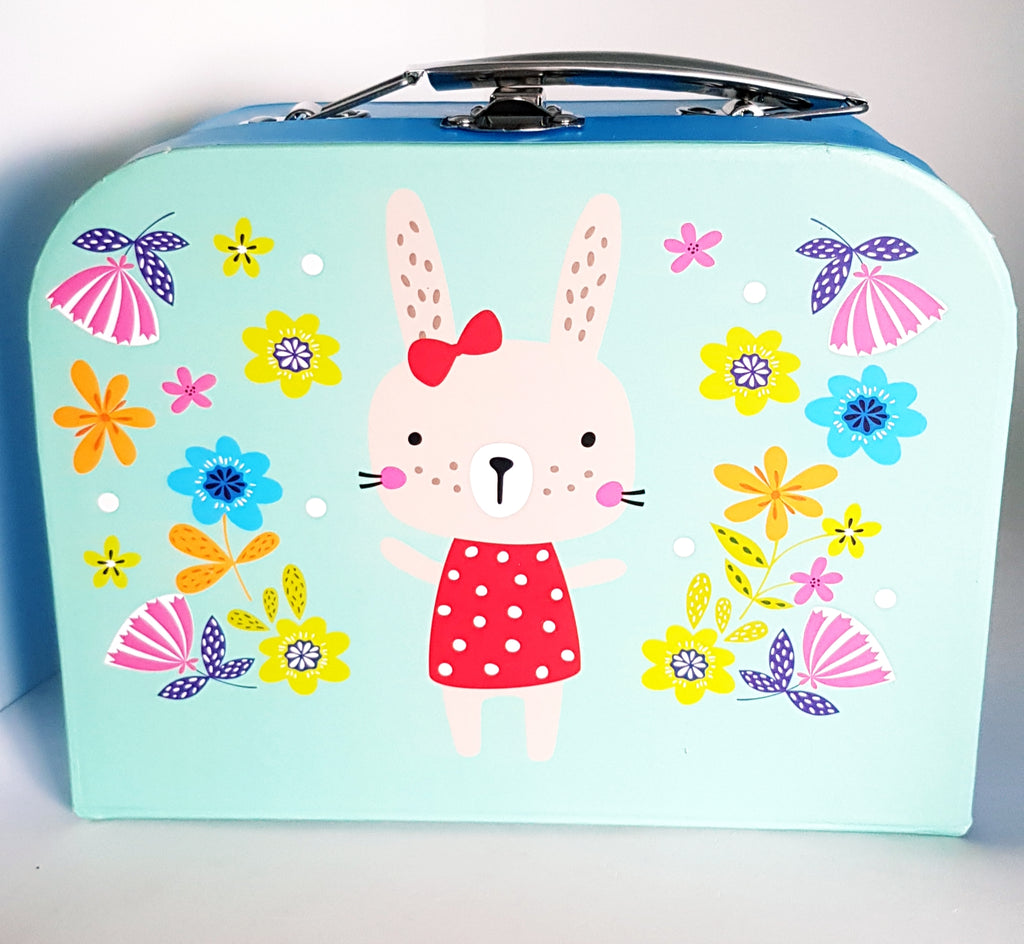 Children's Paper Suitcase Bunny