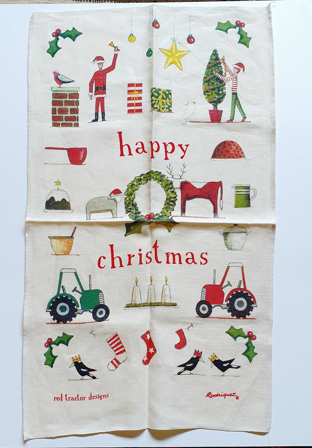 Happy Christmas Teatowel
