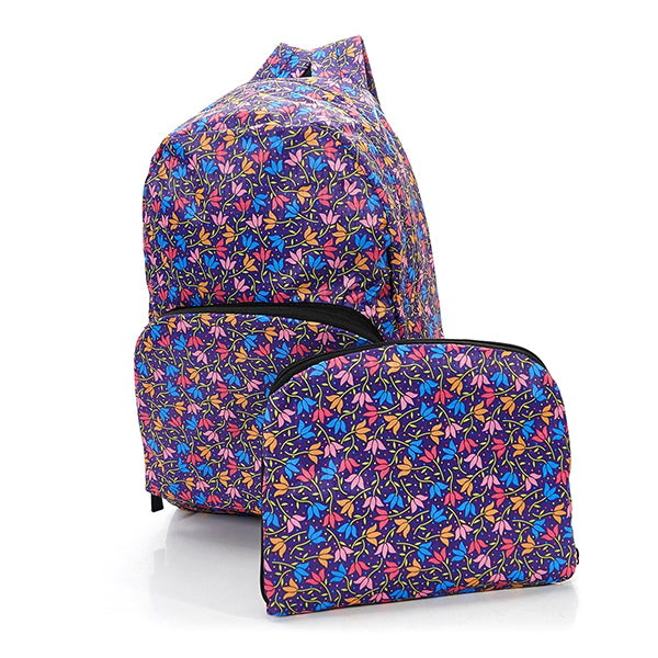 Foldable Backpack Flowers