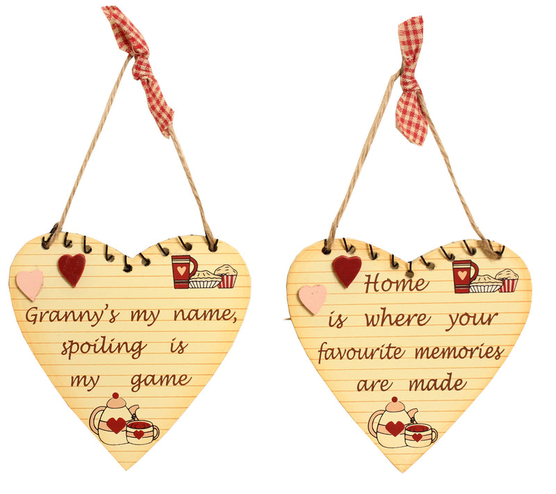 Heart Hanging Sign