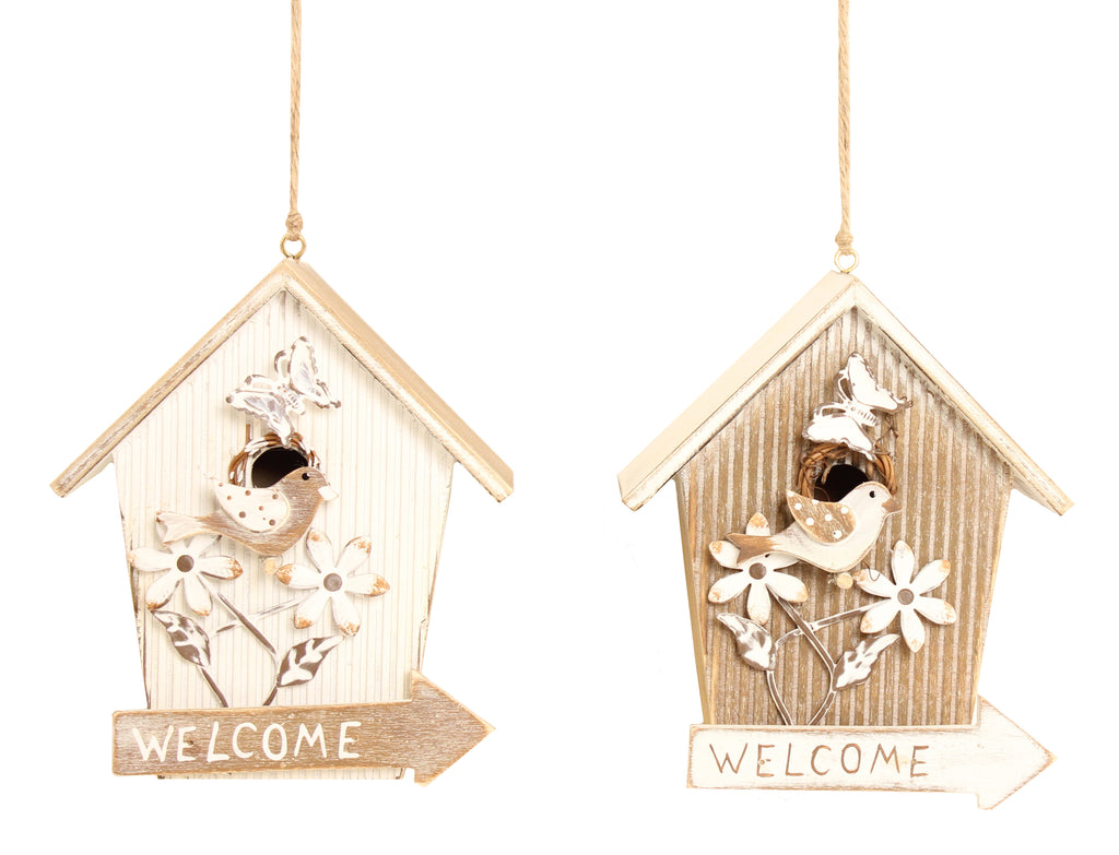 Welcome Small bird House Sign