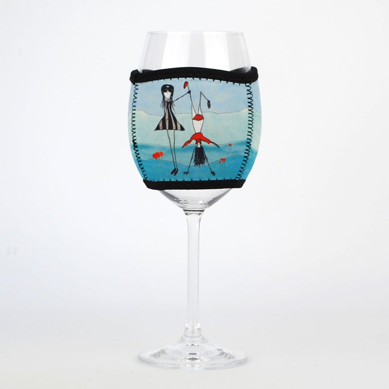 "Wine Glass Cooler ""Admire What you've done"""