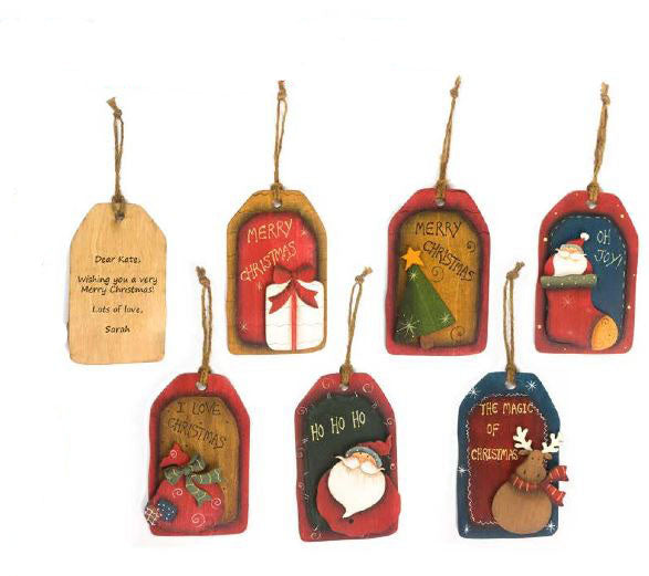 Christmas Tree Wood Tag