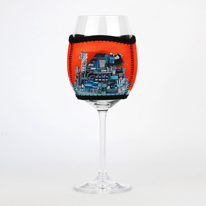 "Wine Glass Cooler ""Dung Beetle"""