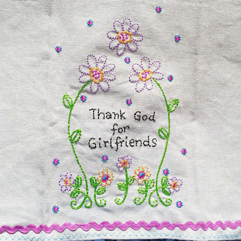 Girlfriends Tea towel