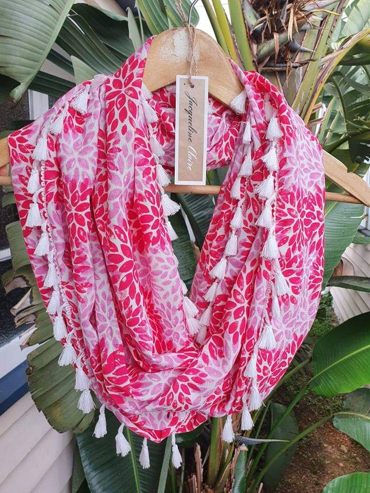 Red & Pink Floral Wrap