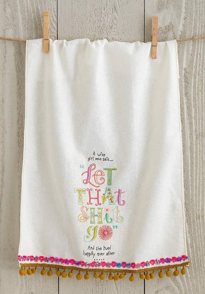 A Wise Girl Tea towel