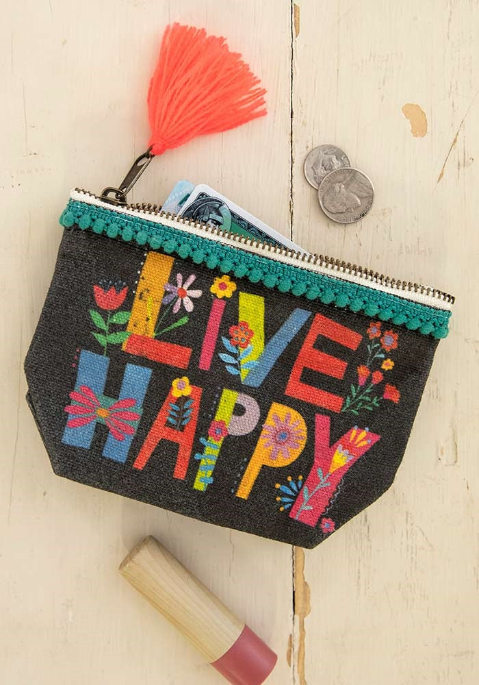 Live Happy Tote Bag