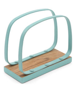 Teal Rim Wooden Coaster Set of 4