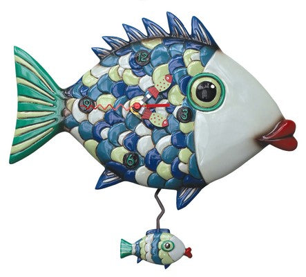 Fishy Lips Clock 28 cm