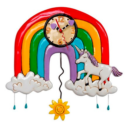 Rainbows & Unicorn Clock