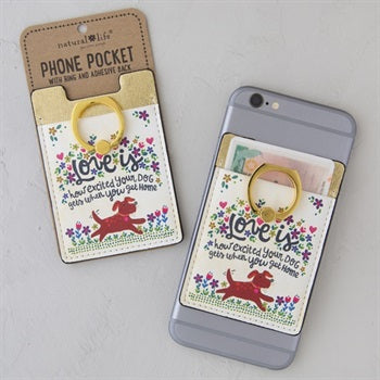 Phone Pocket Ring Love Your Dog
