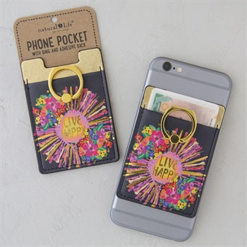Phone Pocket Ring Live Happy