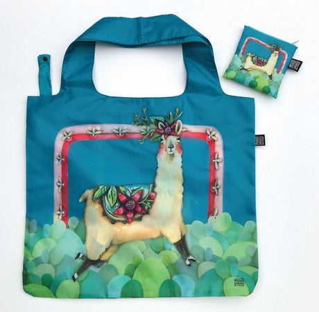Foldable Llama Shopping Bag