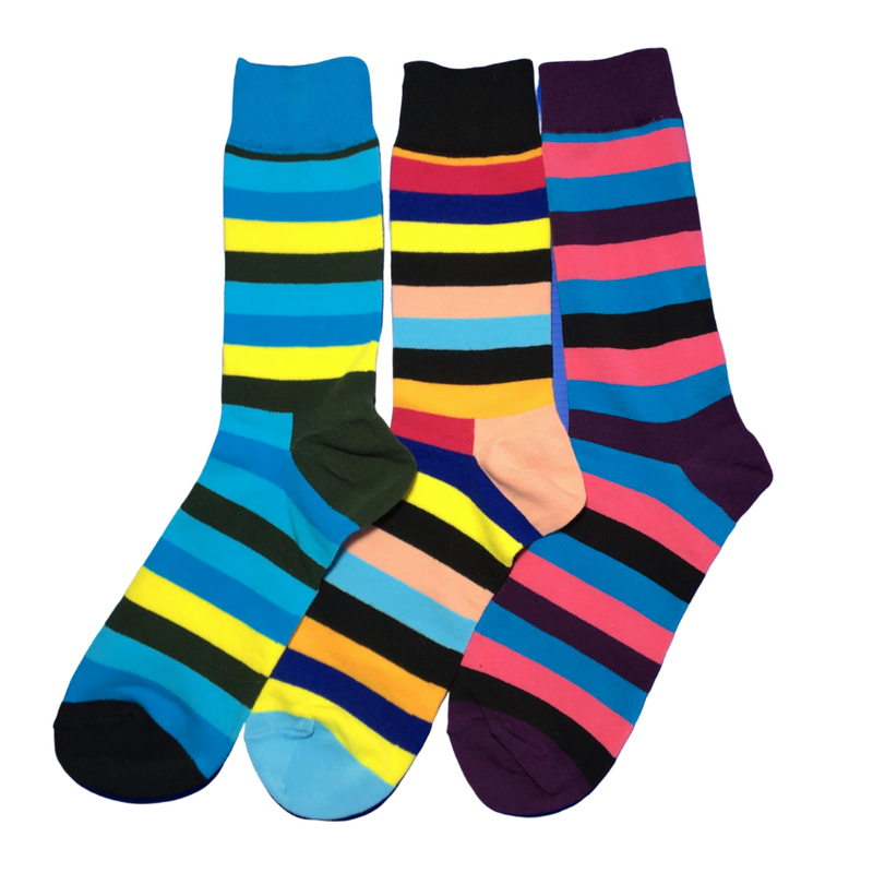 Three Striped Socks